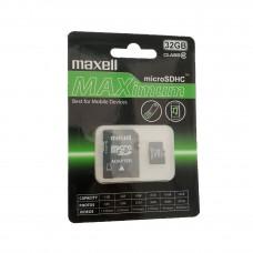 Card MICRO SDHC 32 Gb clasa 10 cu adaptor - Maxell