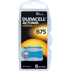 Baterii aparate auditive tip 675 PR44- Duracell