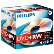 DVD+RW Reinscriptibil, 4.7Gb, 1-4X , PHILIPS