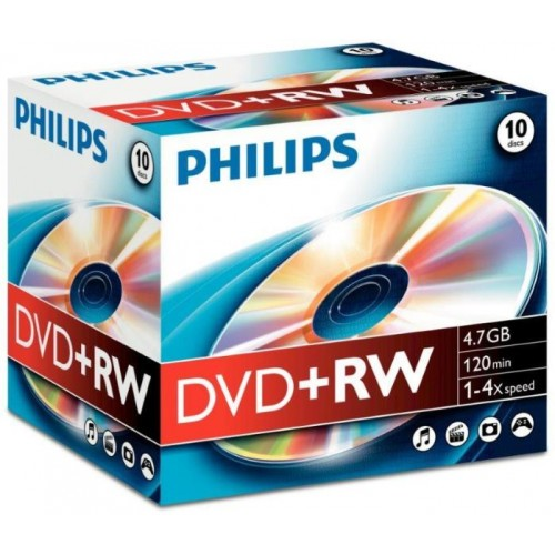 DVD+RW Reinscriptibil, 4.7Gb, 1-4X , PHILIPS