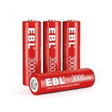 Acumulatori Li-Ion 1.5V AA 3000 mWh -EBL 4 buc / set