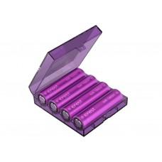 Cutita depozitare baterii,acumulatori tip CR123A, CR2, 18650 - Lila