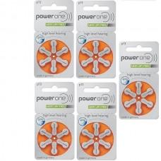 Baterii auditive P13 - PowerOne / 30 buc