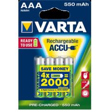 Acumulatori AAA,HR03,550mAh,Varta,4 buc